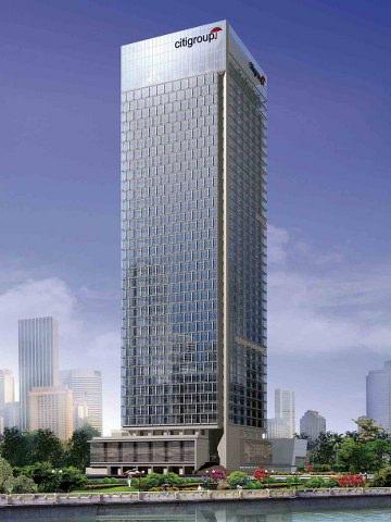 陆家嘴金融区,花旗银行大厦,CBD核心地段高档办公楼,一线江景
