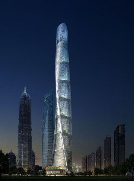 上海第一高楼,上海第一中心,一线江景